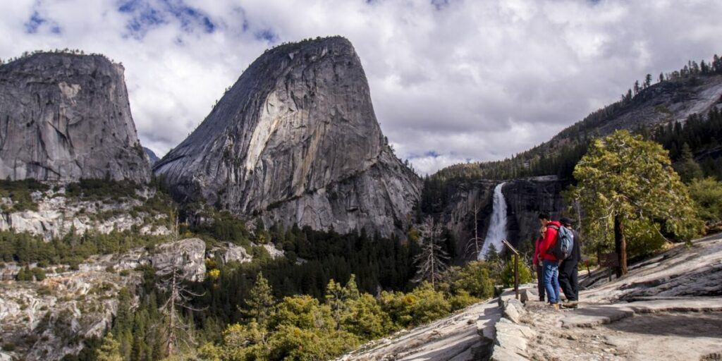 View of Nevada Falls from the John Muir Trail