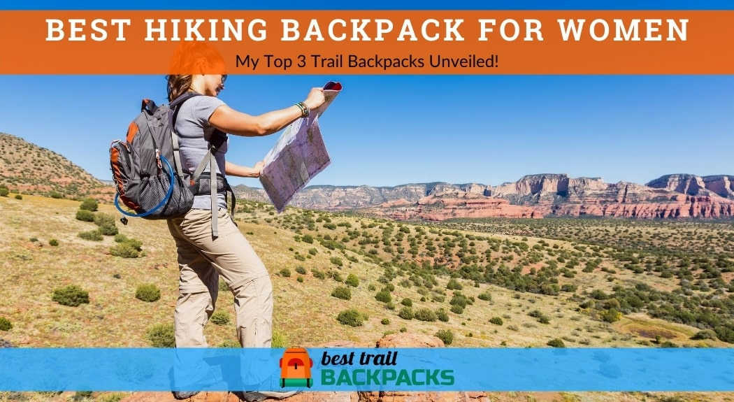 Best Hiking Backpack for Women - Young Woman Looking at a Map in a Canyon