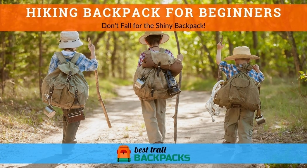 Hiking Backpack for Beginners - Boys on a Forest Road with Backpacks