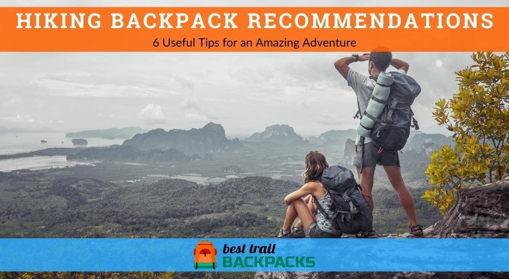 Hiking Backpack Recommendations - Two Tourists with Backpacks Enjoying the View of the Valley