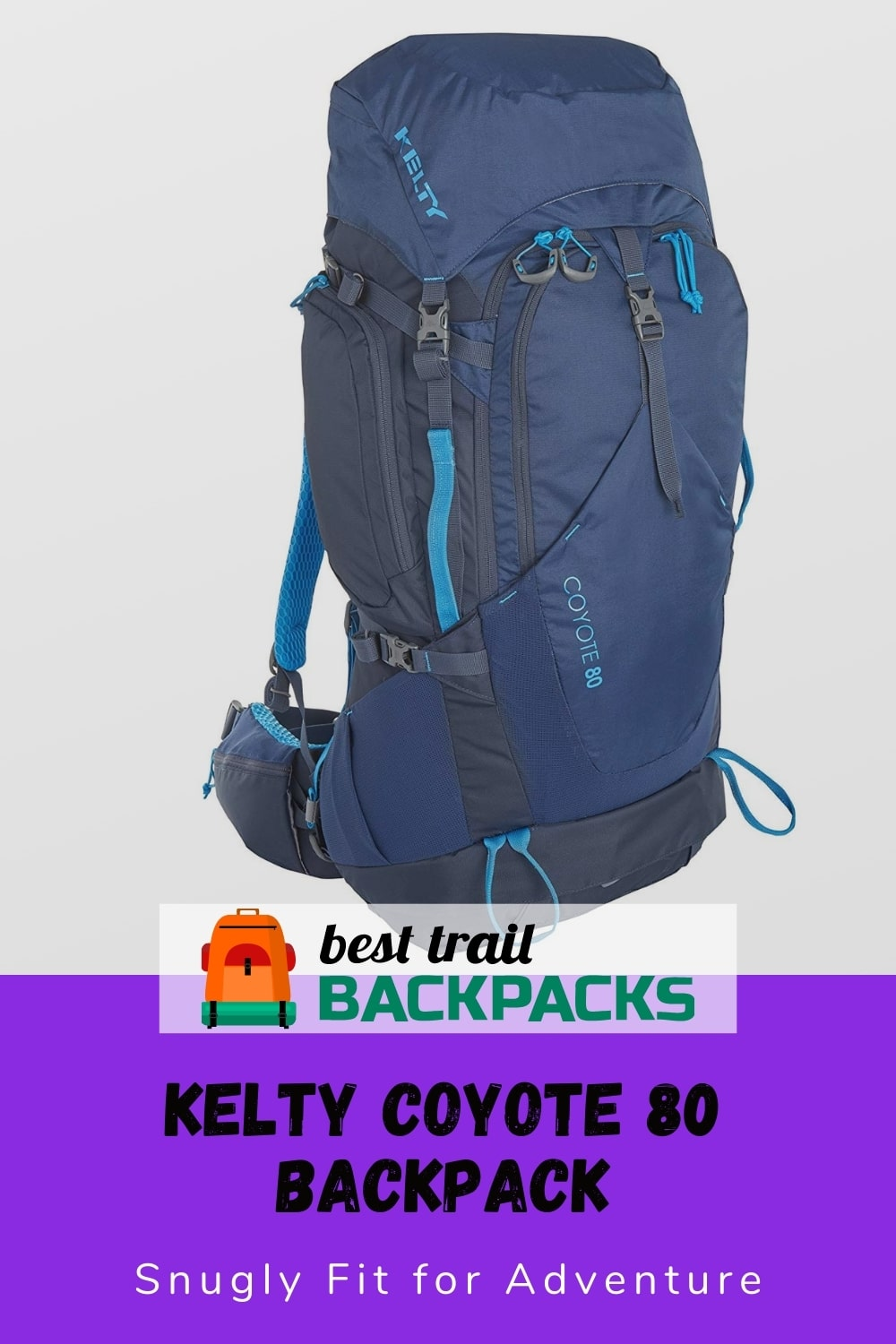 Kelty Coyote 80 Liter Backpack - Front View