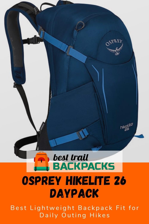 Light Hiking Backpack - Osprey Hikelite 26L Hiking Backpack
