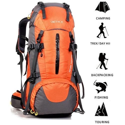 Water Resistant vs Waterproof - ONEPACK 50L Hiking Backpack
