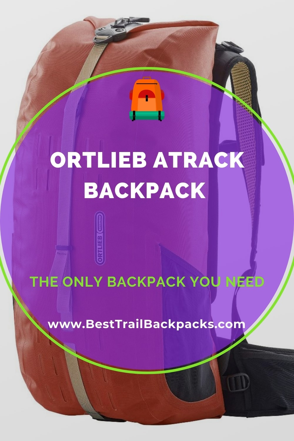 Ortlieb Atrack Backpack - Front View