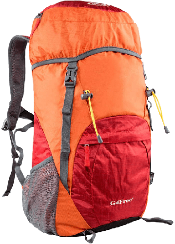 G4Free Travel Backpack Review - Font View
